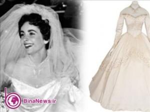 لباس عروسی الیزابت تایلور به مزایده گذاشته می شود