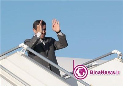 احمدینژاد عازم بغداد شد