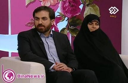 رئيس مركز ملي فضاي مجازي و همسرشان در شبكه دو سيما +عكس