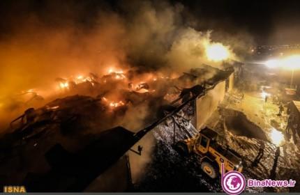 آتش سوزی انبار کالا در تهرانپارس+7عکس