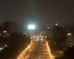 لیزرهای رنگی,تفریح مردم مصر در شبهای تظاهرات
