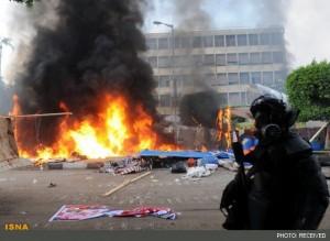 باران گلوله و آتش در مصر