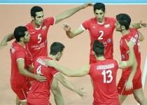 والیبال ایران مقتدرانه مصر را شکست داد