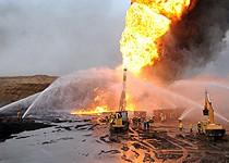 آتشسوزی مهیب ؛ خط لوله گاز پتروشیمی مارون آتش گرفت