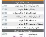 نتایج روز اول از هفته سوم رقابتهای لیگ برتر + جدول نتایج