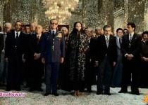 عکس دیده نشده از فرح دیبا و محمدرضا پهلوی در حرم امام رضا (ع)