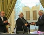 تودیع و معارفه صالحی و ظریف در وزارت خارجه +۵عکس