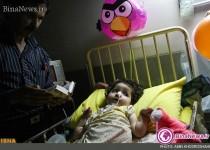 تصاویری تاثر انگیز از شب قدر در کنار کودکان بیمار +7عکس