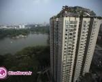 ویلایی صخره ای در بالای یک برج در پکن +عکس و فیلم