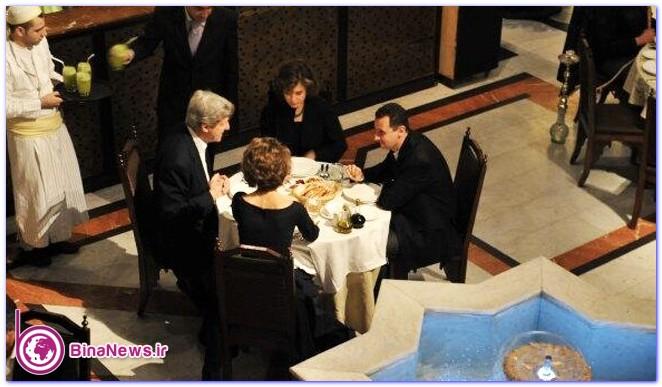 شام خانوادگی بشار اسد و جان کری + عکس