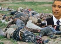 اوباما از شهروندان ايران گفت،اما از نقش آمريکا در قتل عام مردم چيزي نگفت