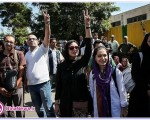 تصاویری از باران کوثری در مراسم استقبال از حسن روحانی