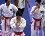 مریم طوسی مدال طلای خود را به تیم کاتای بانوان اهدا کرد