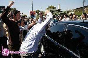 اعتراض اغتشاشگران به دكتر روحاني در بازگشت از آمريكا+تصاوير