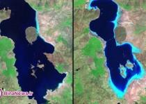 حجم آب دریاچه ارومیه80درصد کاهش یافت