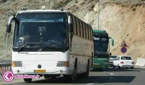 باز هم ترکیدگی لاستیک اتوبوس اسکانیا