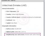 """ثبت """"خلیج فارس"""" در بخش معرفی امارات در سایت فیفا + عکس"""