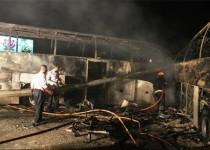تصادف خونین در اتوبان تهران-قم؛ 44 تن جان باختند