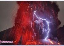 تصاوير ديدني و باورنکردني از فوران آتشفشان
