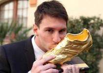 مسی کفش طلای فوتبال اروپا را دریافت کرد