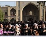 پیکر مرحوم عسگراولادی در بهشت زهرا آرام گرفت + تصاویر