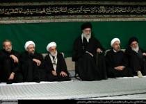 اولین شب عزاداری در حسینیه امام خمینی با حضور رهبر انقلاب برگزار شد