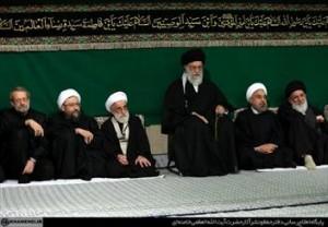 مراسم سوگواری شب عاشورای حسینی با حضور رهبر انقلاب برگزار شد