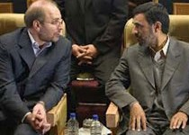 دیدار احمدی نژاد و قالیباف در ساختمان لادن