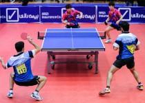 قهرمانی برادران عالمیان در بخش دوبل پینگپنگ جام فجر