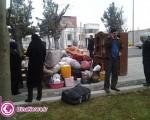 آواره گی زنی در پارک ساعت شهر ارومیه/تصاویر