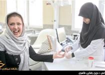 واکنش جالب ضيغمي هنگام اهداي خون