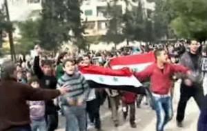 تظاهرات گسترده سوریها در حمایت از ارتش و دولت