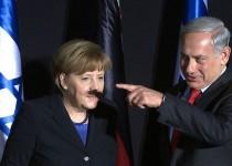 نتانیاهو برای مرکل سبیل هیتلری گذاشت!