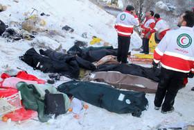 نام 18 کشته حادثه سقوط اتوبوس در جاده هراز اعلام شد