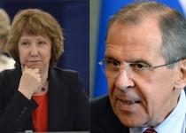 لاوروف در دیدار با اشتون: توافق 21 فوریه باید مبنای صلح اوکراین باشد