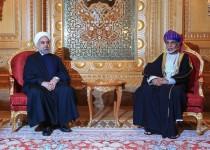 تاکید روحانی و سلطان قابوس بر لزوم گسترش روابط کشورهای منطقه