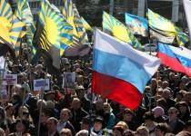 تظاهرات ساکنان مناطق شرقی اوکراین برای پیوستن به روسیه
