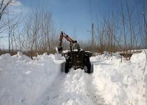 نجات 3 قلوهای گرفتار در برف و کولاک