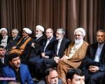 رهبر معظم انقلاب در جمع زائران حرم رضوی(ع)/تصاویر