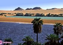دریاچه ای در قلب بیابان / تصاویر