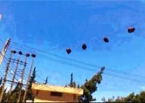 آویزان کردن سرهای بریده شده در خیابانهای رقه