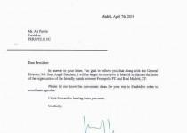 پاسخ رئالمادرید به پرسپولیس + متن نامه