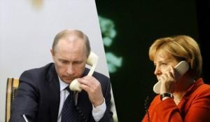 گفتگوی پوتین با مرکل / ارتش اوکراین عملیات نظامی را متوقف کند