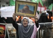"""برگزاری تظاهرات """"یاری مسجدالاقصی"""" در غزه"""