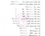 قیمت انواع خودرو داخلی و خارجی، ۲۴ فروردین