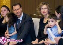 دیدار بشار اسد با خانواده های شهدای مقاومت/تصاویر