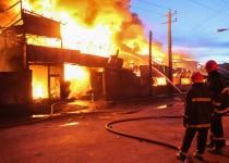 شعلههای آتش مهیب قزوین پس از ۷ ساعت فروکش کرد