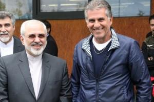 کیروش خطاب به ظریف: دیدار شما مسئولیت ما را دو چندان میکند