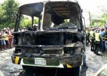 سوختن 31 کودک در اتوبوس کلمبیایی