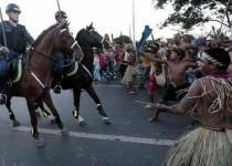 ادامه اعتراضات در برازیلیا علیه جام جهانی